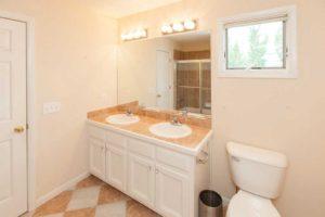 additional double sink bathroom