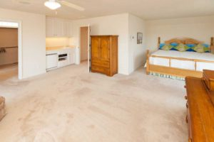 Large master bedroom with wet bar and deluxe bath