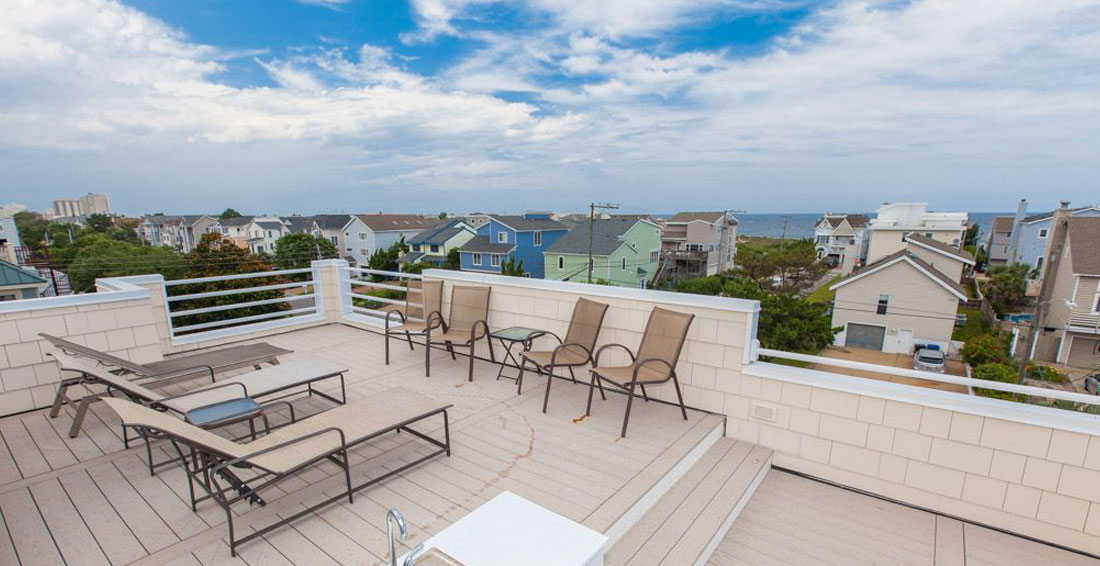 Ocean View roof top deck